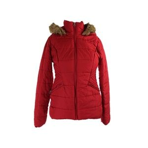 Krush Juniors Red Faux-Fur-Trim Quilted Jacket